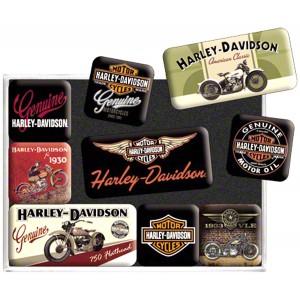 """Набор магнитов """"HARLEY-DAVIDSON"""" 9 штук"""