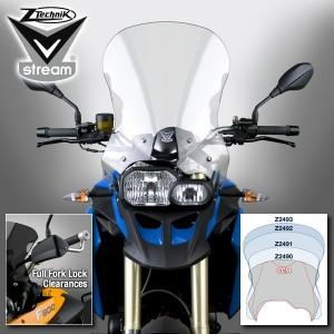 Туристическое ветровое стекло ZTechnik для F800GS / F650GS Twin прозрачное