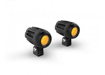 Комплект светодиодных фар DENALI DM 2.0 c технологией DataDim | Желтые линзы