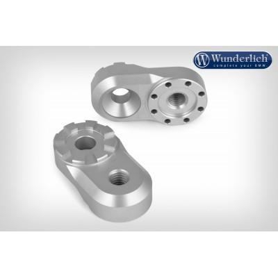 Адаптер подножек Wunderlich Vario EVO1, 23mm, серебро | 25912-000