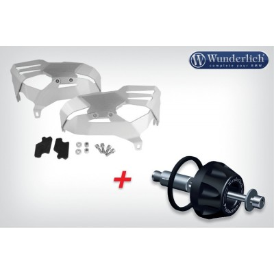 Комплект - защита цилиндров и крашпед кардана Wunderlich для BMW R1200RT (-2013), серебристый
