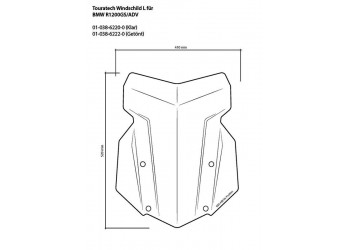 Ветровое стекло Touratech (L) для BMW R1200 / 1250GS / Adventure - прозрачное