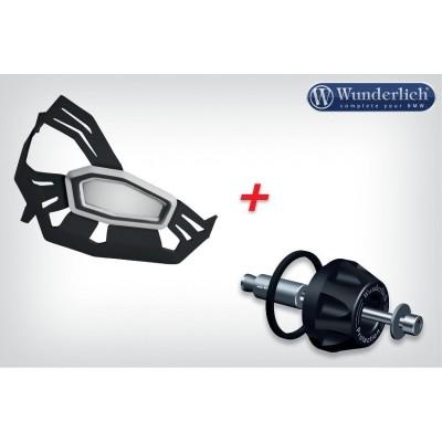 Комплект - накладки защиты двигателя и крашпад кардана (черные) BMW R1200GS / RT 2014 - | 43430-302