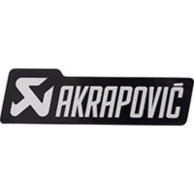Наклейка Akrapovic для выхлопа  серебро/черный 39X135 мм | 60420912